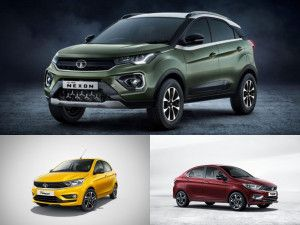 BS6 Tata Nexon Tigor Sedan and Tiago Hatchback Facelifts To Launch In India Tomorrow