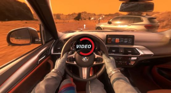New BMW X3 Goes To Mars For A Virtual Test Drive