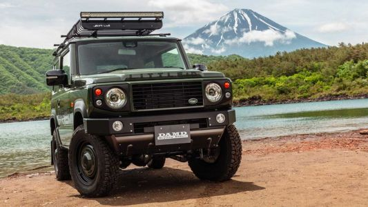 Suzuki Jimny Transformed Into Vintage Mini Land Rover Defender