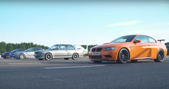 Watch Four Generations Of BMW M3 Battle It Out On One Runway