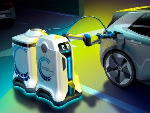 Volkswagen Develops V2X-Powered Mobile Charging Robot