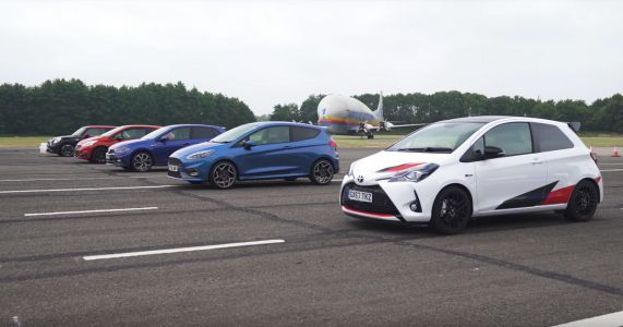 Here's What Happens When The Ford Fiesta ST Drag Races Its Rivals